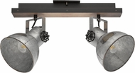 EGLO 49649A Barnstaple Modern Distresesd Zinc and Black Home Track Lighting