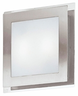 EGLO 82219A Eos 11 Inch Tall Matte Nickel Finish Wall Light Sconce