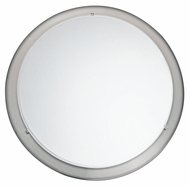 EGLO 82942A Planet Small 11 Inch Diameter Matte Nickel Circle Wall Light Sconce