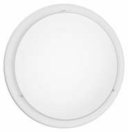 EGLO 82957A Planet White Finish 14 Inch Diameter Circular Lamp Sconce - Large