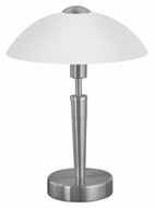 EGLO 85104A Solo I Transitional Matte Nickel 13 Inch Tall Table Top Lamp