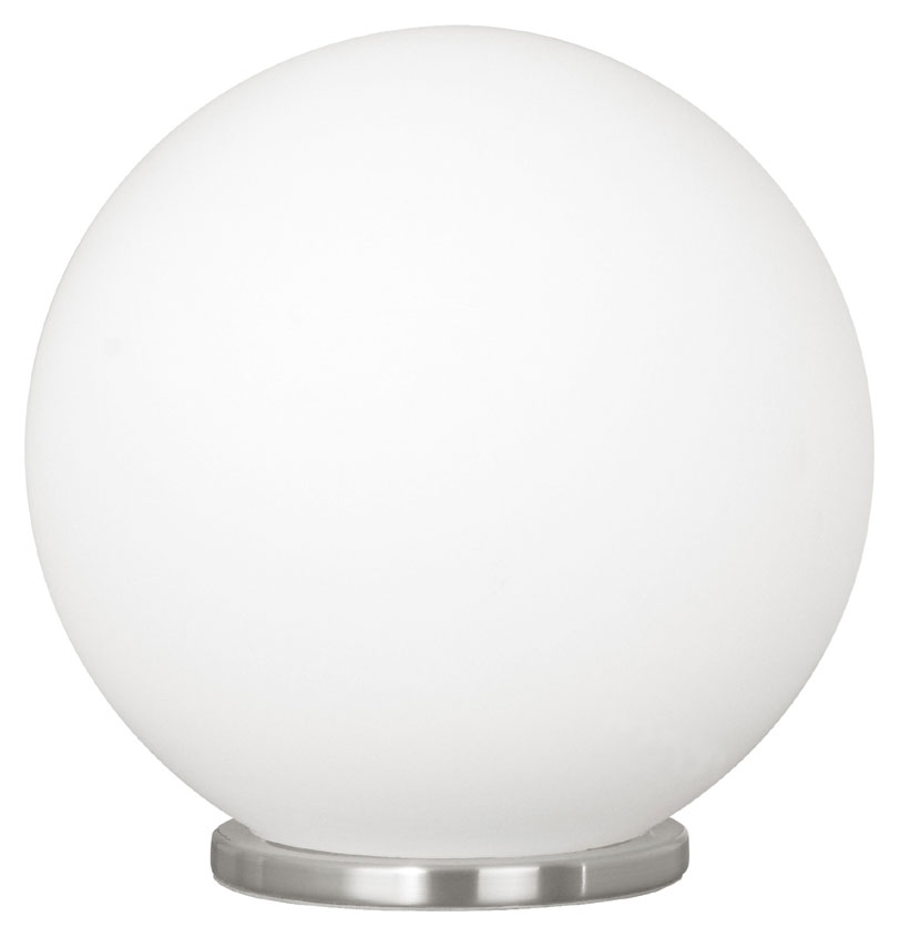EGLO 85264A Rondo Silver Finish 7 Inch Diameter Glass Ball Table Lamp    Small. Loading Zoom