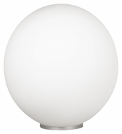 EGLO 85266A Rondo Silver Finish 11 Inch Diameter Glass Ball Lighting Table Lamp - Large