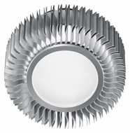 EGLO 89119A Chiron Contemporary 5 Inch Diameter Ceiling Or Wall Mount Lighting - Aluminum