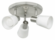 EGLO 89945A Gino 3 Lamp Matte Nickel Ceiling Mount Spot Light - 15 Inch Diameter