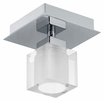 EGLO 90117A Bantry 4 Inch Wide Modern Wall Or Ceiling Light Fixture - Matte Nickel