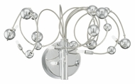 EGLO 90157A Othello 11 Inch Wide Tangled Chrome Wire Wall Lighting