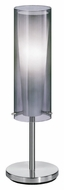 EGLO 90308A Pinto Nero Contemporary Smoked Glass 19 Inch Tall Lighting Table Lamp