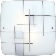 EGLO 90383A Raya 1 Modern Chrome Flush Mount Lighting Fixture