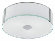 EGLO 91254A Varano Chrome Flush Mount 16 Inch Diameter Ceiling Light
