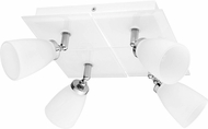EGLO 91782A Katoro Contemporary Chrome & White Halogen Flush Mount Ceiling Light Fixture