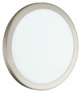 EGLO 91853A LED Arezzo Round 13 Inch Diameter Small Matte Nickel Ceiling Lighting
