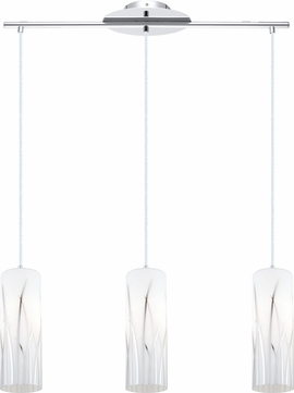 EGLO 92741A Rivato Modern Chrome Multi Drop Ceiling Lighting