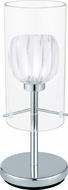 EGLO 93105A Ricabo Contemporary Chrome Halogen Accent Lighting Table Lamp