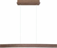 EGLO 93343A Fornes Contemporary Walnut Effect LED Kitchen Island Light