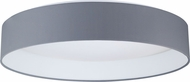 EGLO 93397A Palomaro Modern Black Fabric LED 19.375  Flush Mount Lighting Fixture