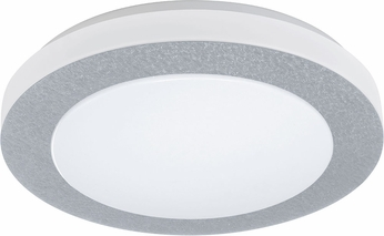 EGLO 93508A Carpi 1 Contemporary Chrome LED Flush Mount Ceiling Light Fixture