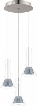 EGLO 93792A Musero Contemporary Matte Nickel LED Multi Drop Lighting Fixture