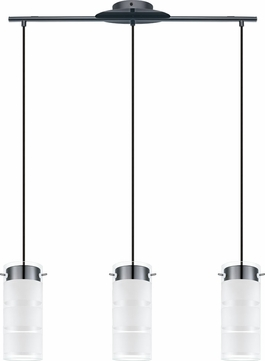 EGLO 93904A Olvero Modern Black Chrome LED Multi Lighting Pendant
