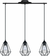 EGLO 94189A Tarbes Modern Matte Black Multi Drop Ceiling Light Fixture