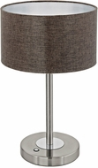 EGLO 95343A Romao 2 Contemporary Satin Nickel / Chrome LED Table Lamp