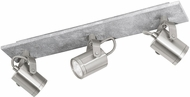 EGLO 95743A Praceta Contemporary Concrete Grey, Matte Nickel & Chrome LED 3-Light Track Light