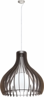 EGLO 96219A Tindori Contemporary Dark Brown 31.5  Drop Ceiling Lighting