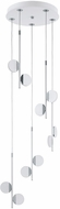 EGLO 96932A Olindra Contemporary White & Chrome LED Multi Hanging Pendant Lighting