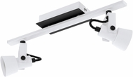 EGLO 97372A Trillo Contemporary White & Black LED 2-Light Track Lighting Kit