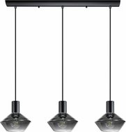 EGLO 97424A Ponzano Modern Black Chrome Multi Hanging Pendant Lighting