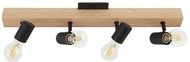 EGLO 98114A Kingswood Contemporary Brown and Black Track Light
