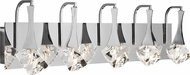 Elan 83137 Rockne Chrome Halogen 5-Light Vanity Light