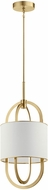Elan 83340CG Jolana Contemporary Champagne Gold LED Hanging Pendant Lighting