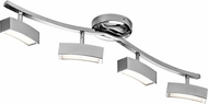 Elan 83381 Landon Contemporary Chrome LED Track Lighting