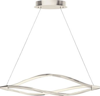 Elan 83391 Meridian Modern Brushed Nickel LED 43  Kitchen Island Lighting