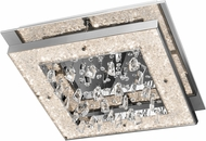 Elan 83410 Crushed Ice Chrome LED 20  Flush Lighting