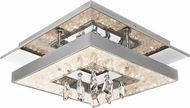 Elan 83411 Crushed Ice Chrome LED 14  Flush Mount Lighting