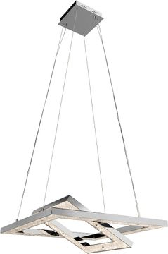 Elan 83412 Crushed Ice Chrome LED Pendant Lamp