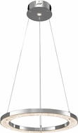 Elan 83415 Crushed Ice Chrome LED Hanging Lamp