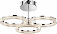 Elan 83441 Ithican Contemporary Chrome LED Flush Mount Lighting Fixture