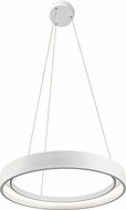 Elan 83454 Fornello Modern Sand Textured White LED 24  Drop Ceiling Light Fixture