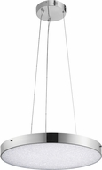 Elan 83591 Crystal Moon Modern Chrome LED 24  Drop Lighting