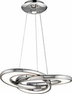 Elan 83619 Destiny Contemporary Chrome LED 28  Ceiling Pendant Light