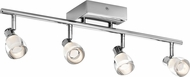 Elan 83628 Haisle Contemporary Chrome LED Track Lighting Kit