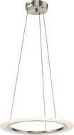 Elan 83671 Hyvo Contemporary Brushed Nickel LED Hanging Pendant Lighting