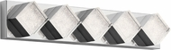 Elan 83714 Gorve Contemporary Chrome LED 28  Bathroom Light Fixture