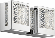 Elan 83725 Pandora Modern Chrome LED 11  Bathroom Sconce