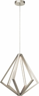 Elan 83735 Everest Contemporary Satin Nickel LED Drop Lighting Fixture