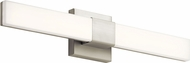 Elan 83737 Neltev Contemporary Satin Nickel LED Bathroom Vanity Light Fixture