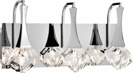 Elan 83776 Rockne Chrome LED 3-Light Bathroom Sconce